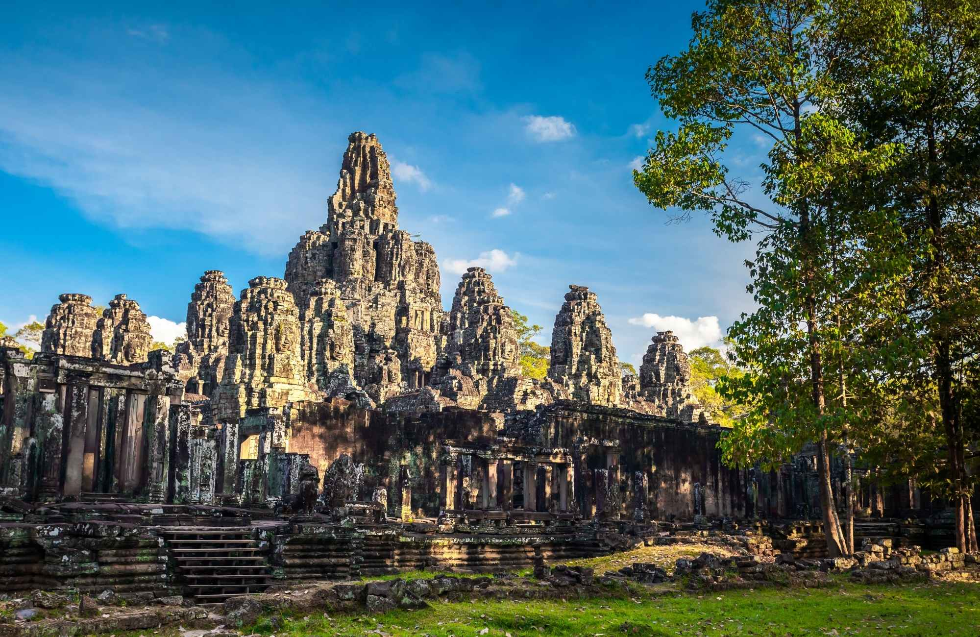 Bayon Temple with Asia for Holiday